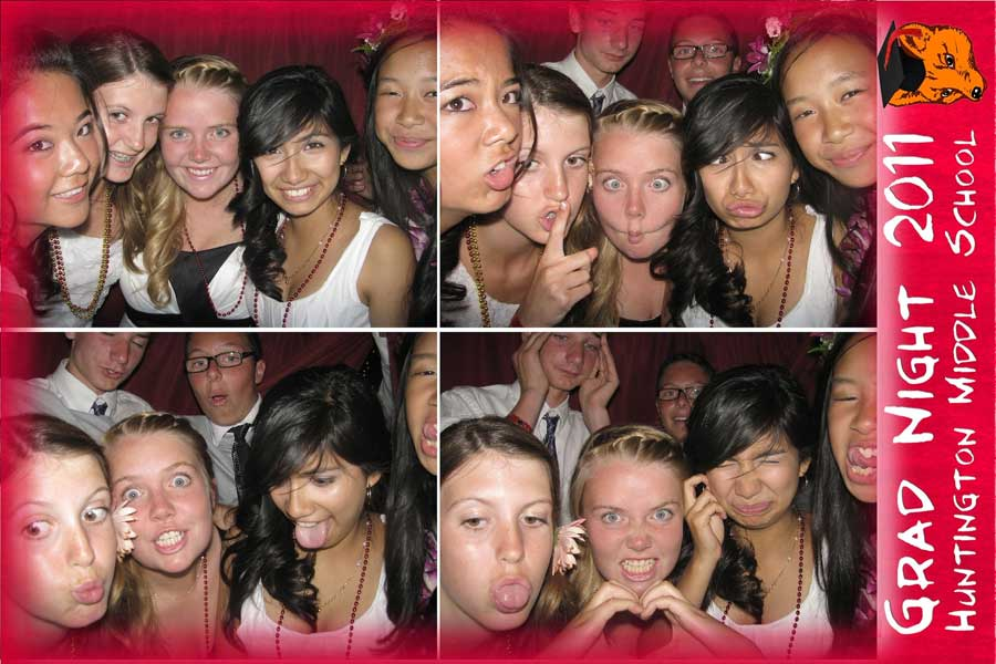 School Grad Night and School Dance Photobooth rental service by Quick Photo Booth